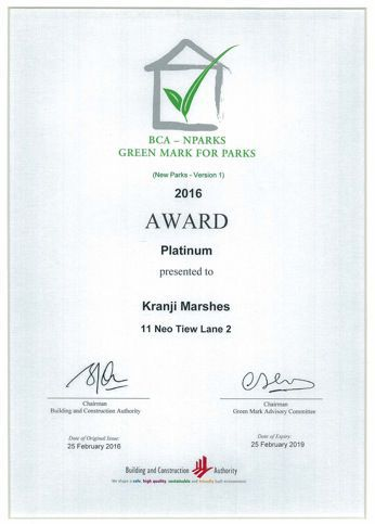 BCA - NPARKS GREEN MARK FOR PARKS 2016