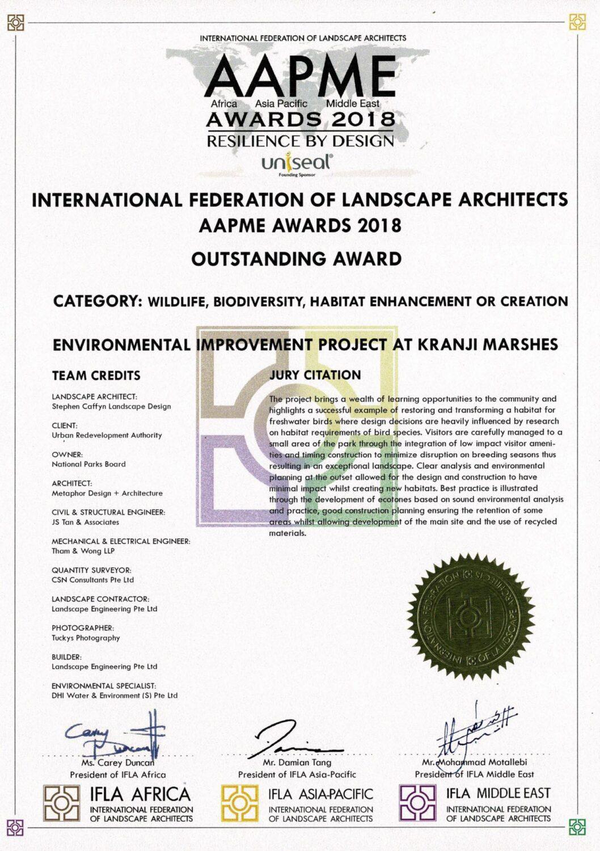IFLA 2018- Kranji Marshes