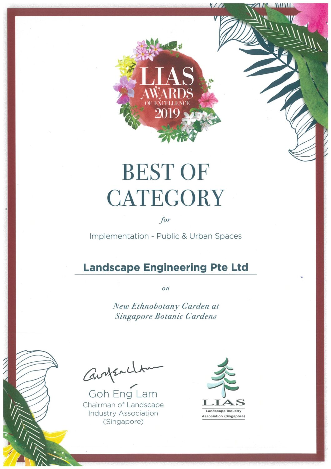 LIAS AWARDS OF EXCELLENCE 2019 - ETHNOBOTANY